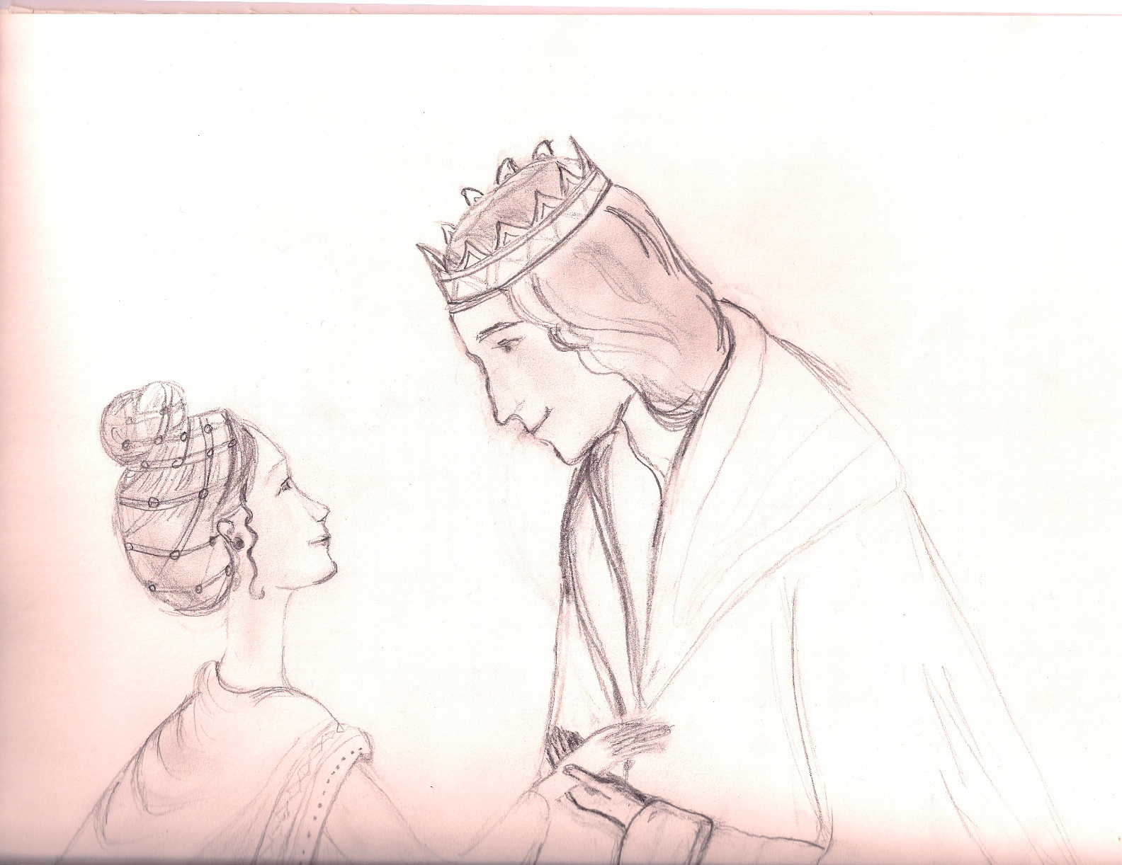 1584x1222 3. The King And Queen A Drawing A Day