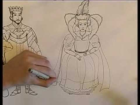 480x360 How To Draw A King Amp Queen How To Draw A Queen's Robe