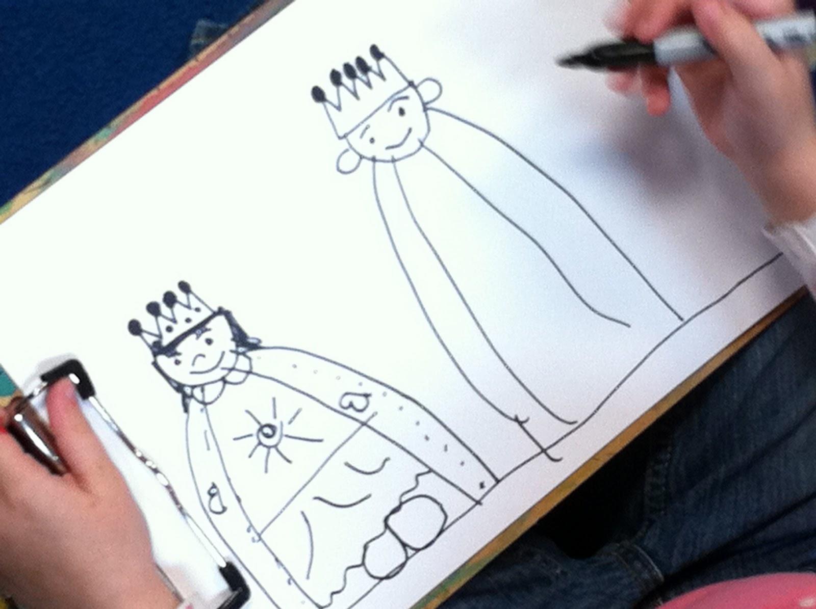 1600x1195 How To Draw A King And Queen Teaching Kindergarten, Kindergarten