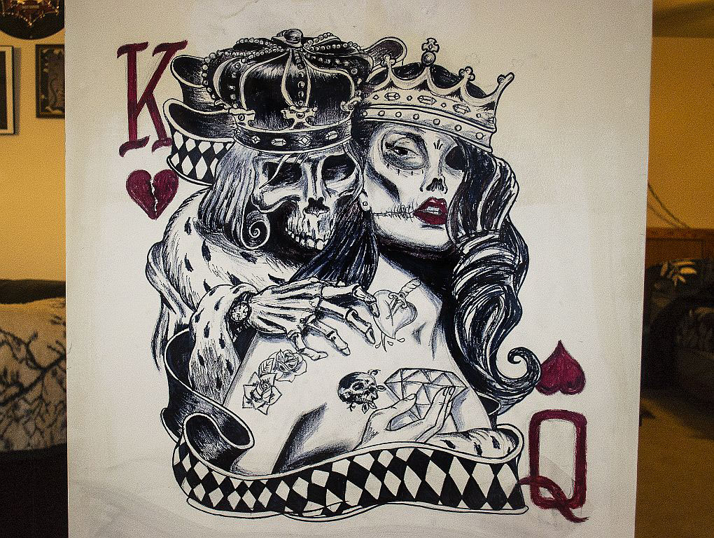 1020x768 Skull King And Queen Of Hearts On Behance