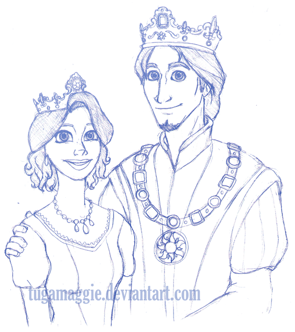 600x677 King And Queen Sketch By Tugamaggie
