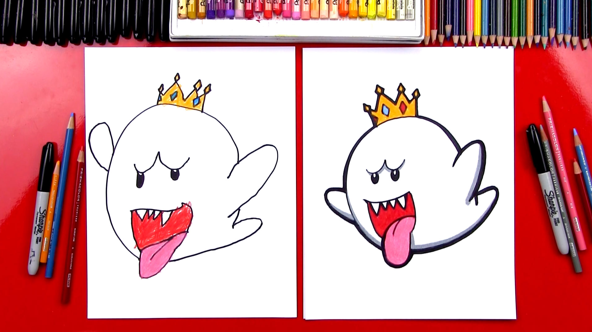 1912x1071 How To Draw King Boo From Mario