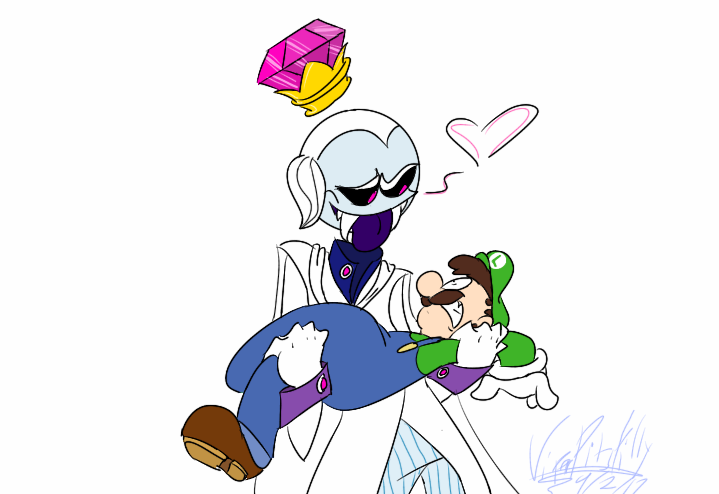 719x494 King Boo X Luigi Practice Thingy By Viperpitsfilly