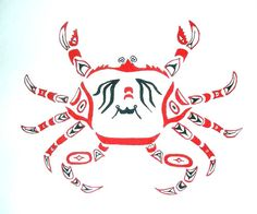 236x196 King Crab Drawing