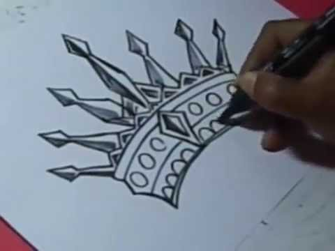 480x360 How To King Crown Drawing For Kids Step By Step