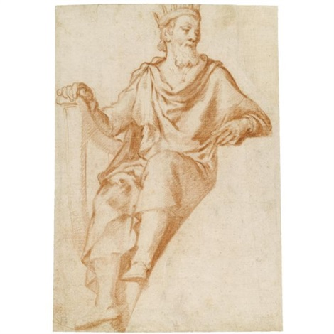 470x470 Design For A Lunette King David Sketch Of A Figure Verso By