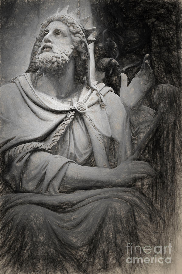 599x900 King David By Tadolini Painting By Hd Connelly