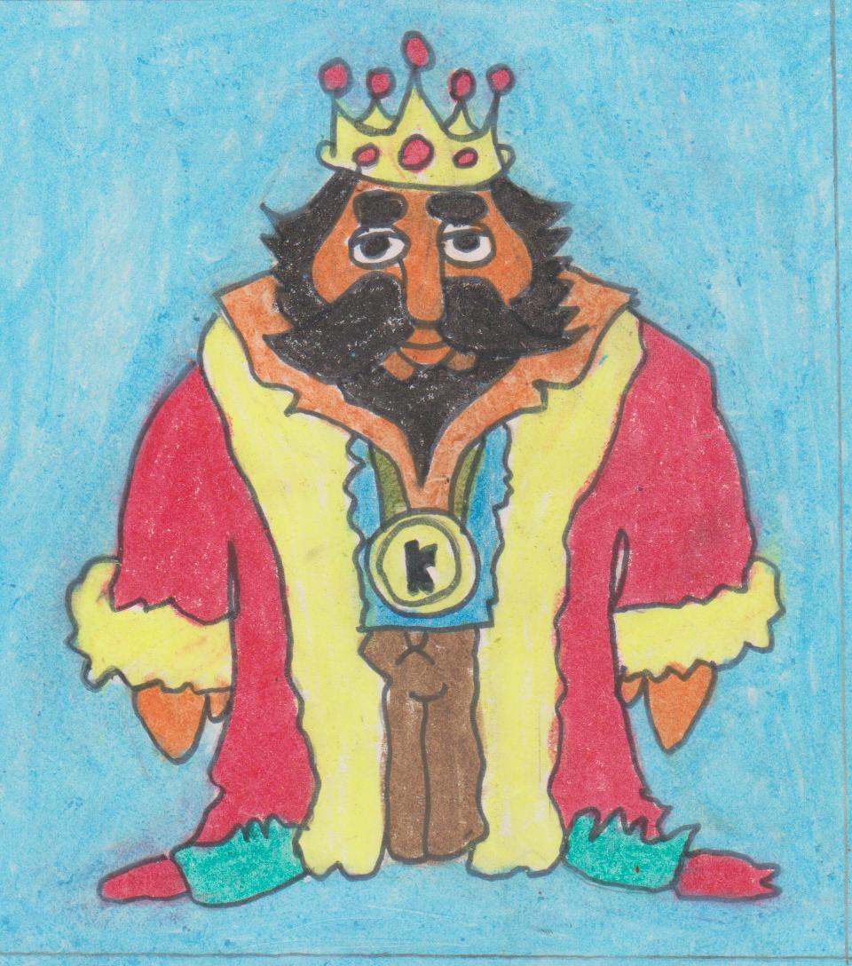 960x1088 King David Drawing By Dharshana G.dharshana