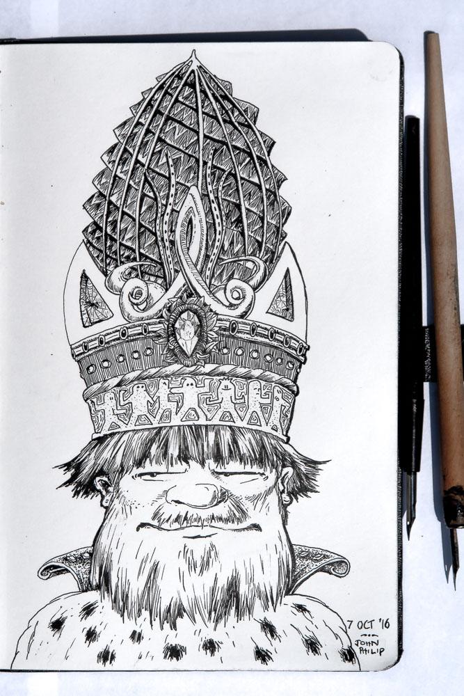 667x1000 King David Wears The Ammonite Crown