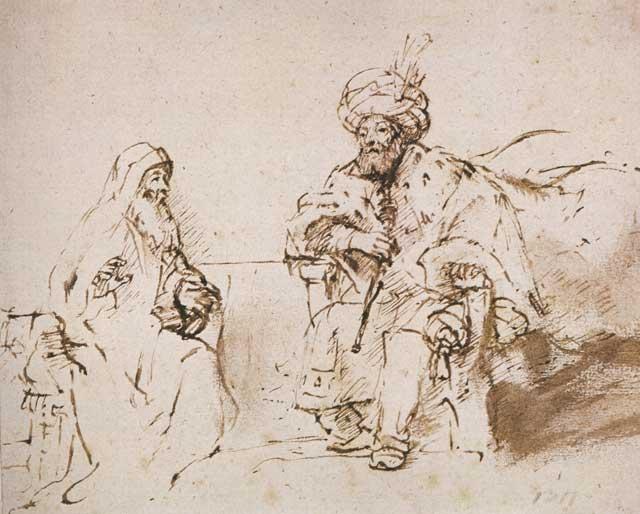 640x514 Nathan Before King David, Rembrandt Center For Online Judaic Studies