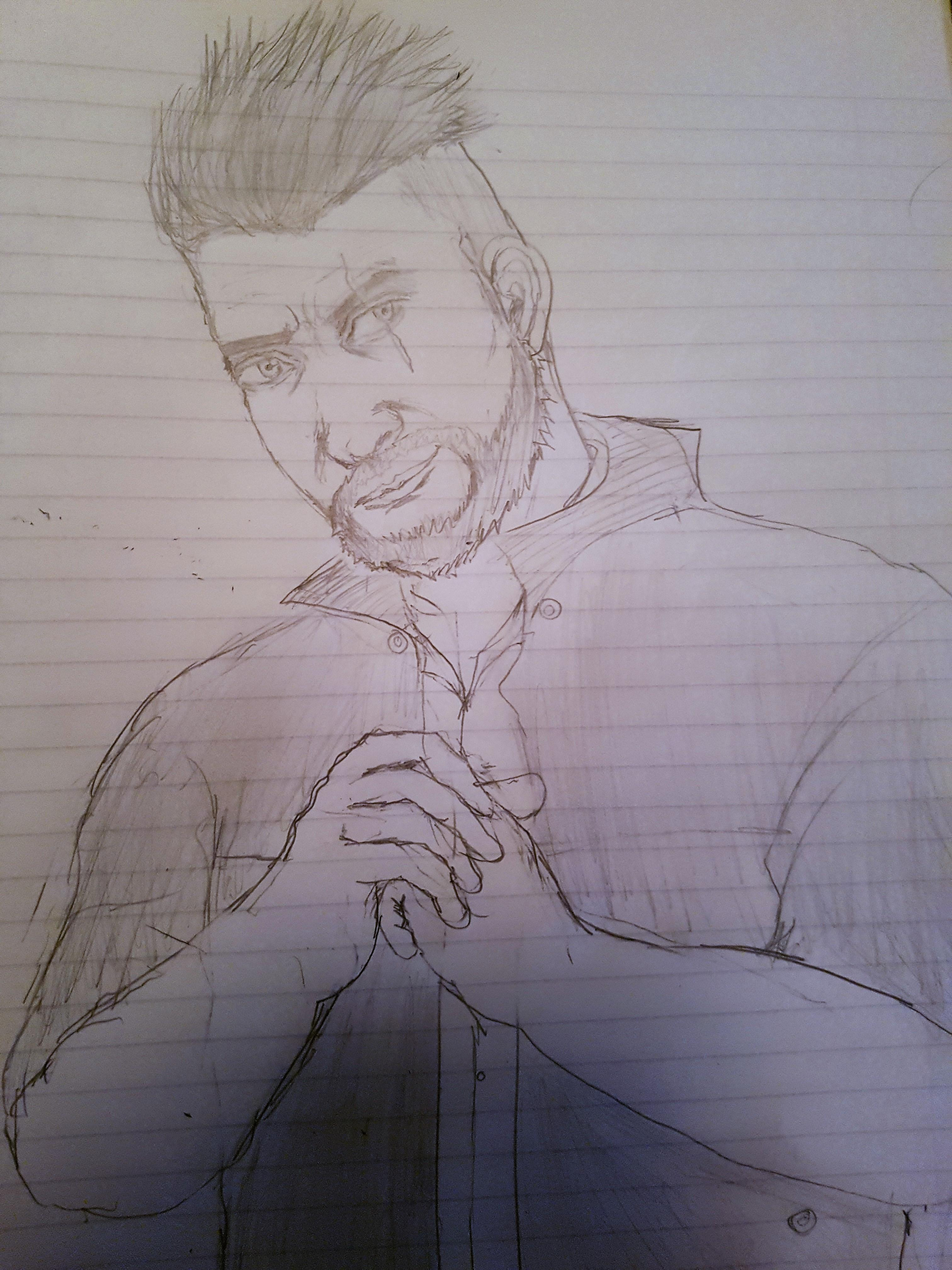 3024x4032 Quick Draw Of David King Deadbydaylight