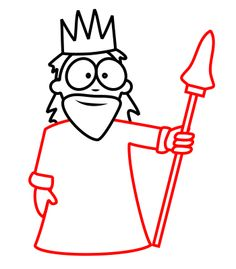 236x269 Drawing A Cartoon King Cartoon