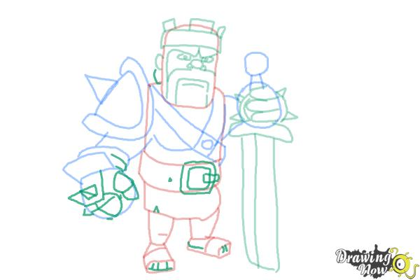 600x400 How To Draw Clash Of Clans Barbarian King