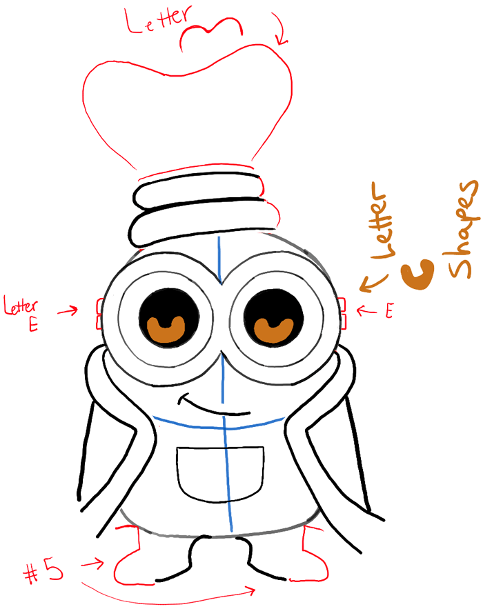 700x883 How To Draw Cute Chibi King Bob From The Minions Movie With Easy