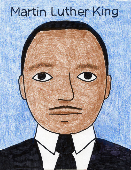 541x700 How To Draw Martin Luther King
