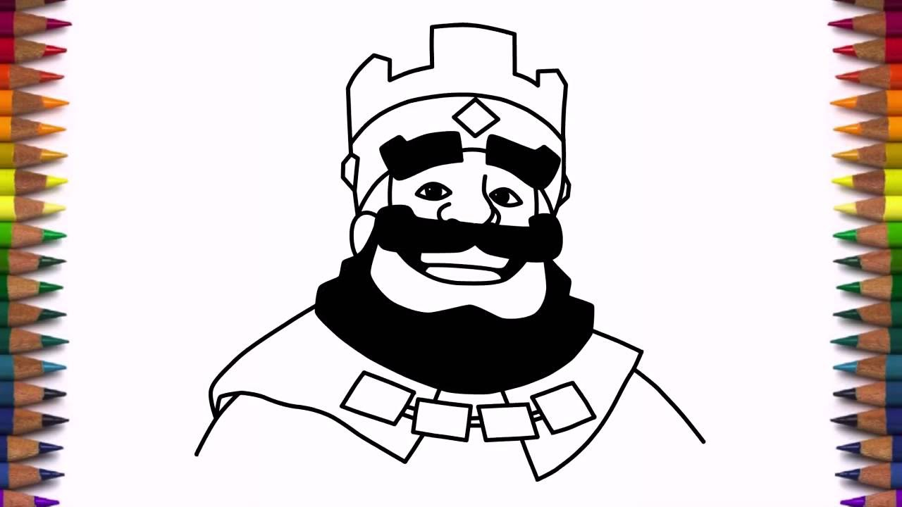 1280x720 How To Draw Clash Royale King Step By Step Face Drawing