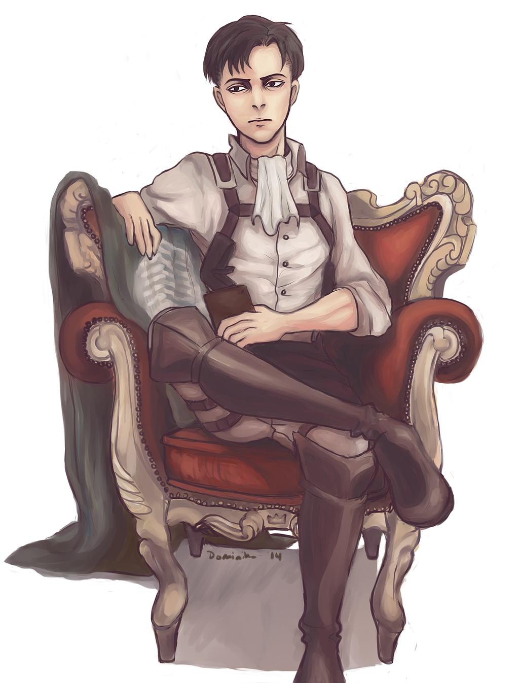 1024x1346 King And His Throne By Jakuzure