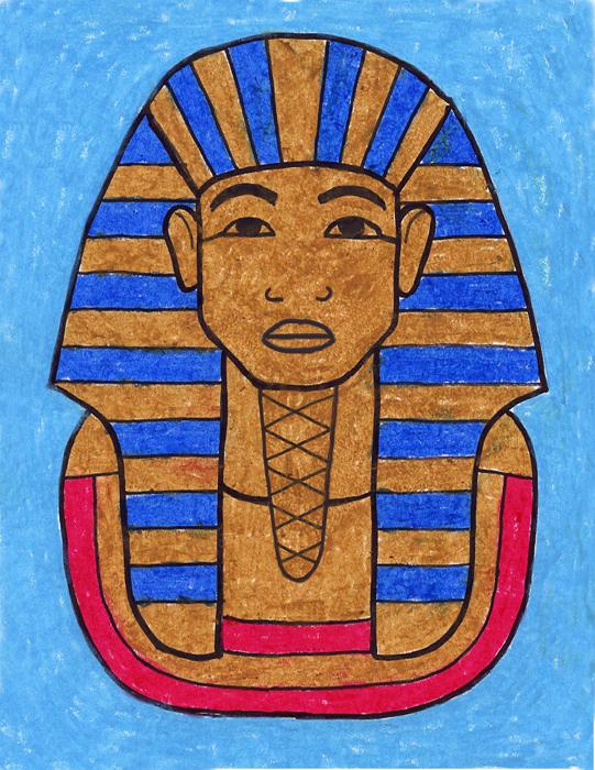 541x700 Drawing King Tut