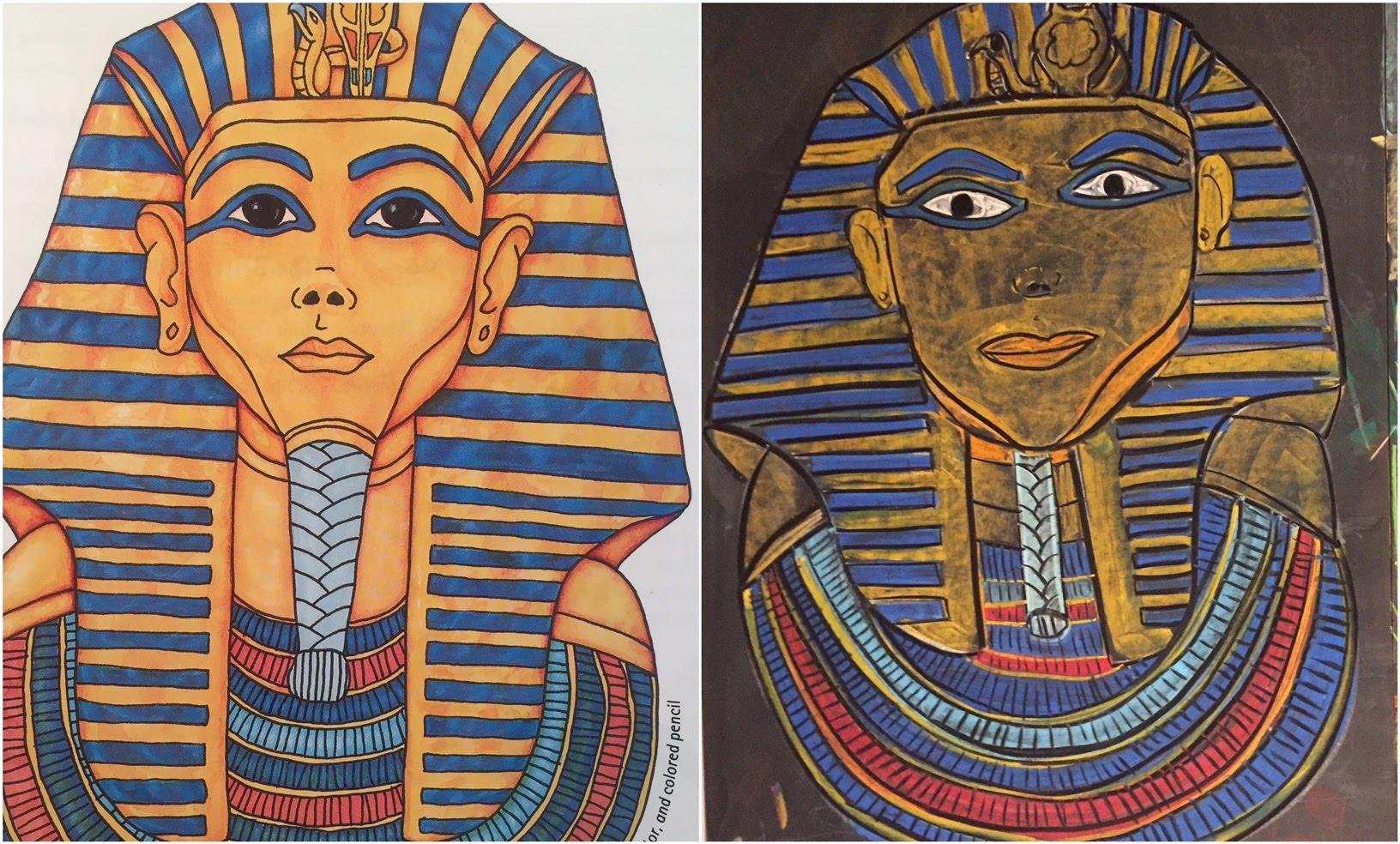 1632x984 King Tutankhamun (Tut) Chalk Drawing Ancient Egypt