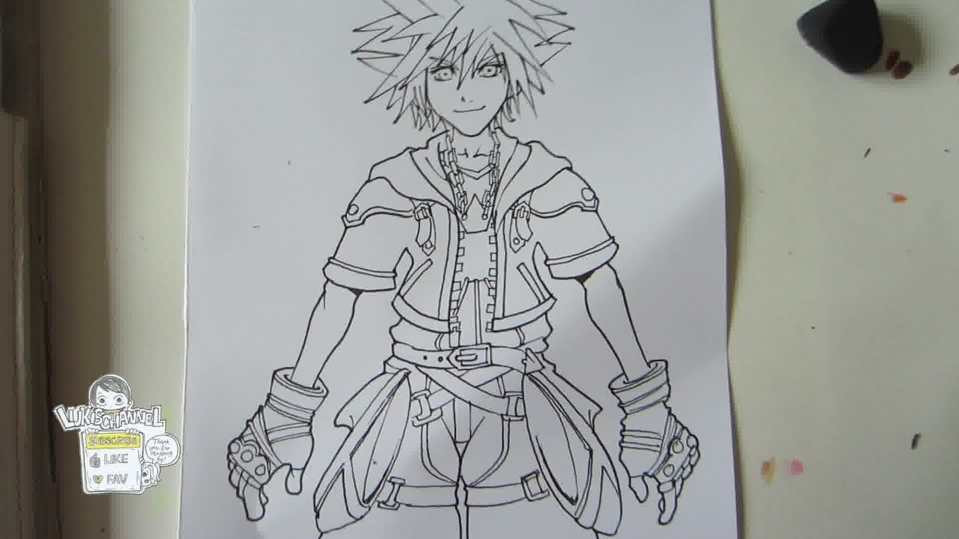 Kingdom Hearts Lineart : Kingdom drawing at getdrawings.com free for personal use