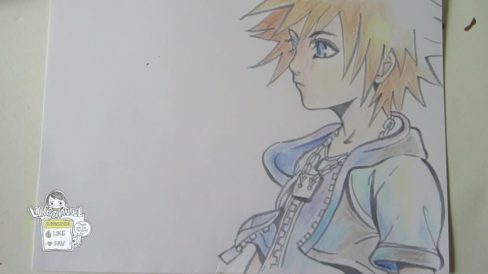 Sora Kingdom Hearts Lineart : Kingdom hearts drawing at getdrawings free for personal use