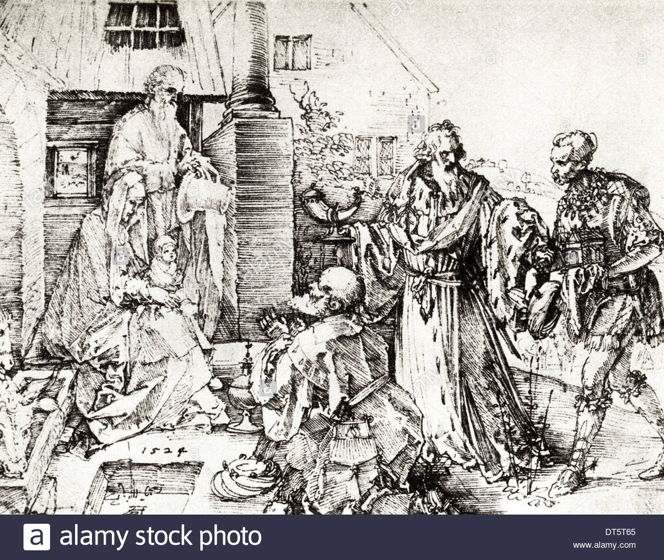 1300x1097 Adoration Of The Kings Drawing By Albrecht Durer Circa 1507 German