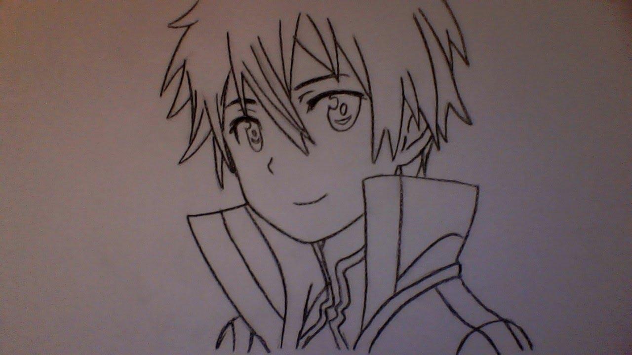 Kirito Drawing at GetDrawings.com   Free for personal use Kirito ...
