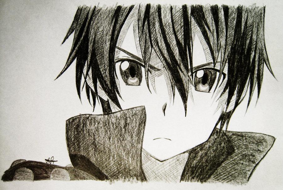 Kirito Drawing at GetDrawings.com | Free for personal use Kirito ...