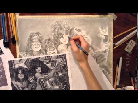 480x360 Drawing Time Lapse Kiss (Band)