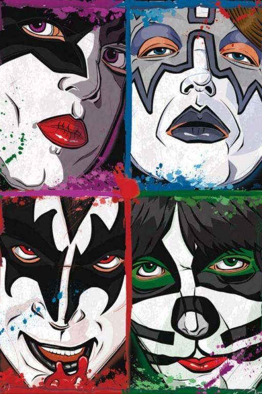 512x768 Kiss Comic Book Style. The Hottest Band In The Land