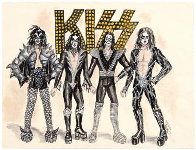 400x306 Original Kiss Alive Amp Destroyer Tour Costume Sketches Up