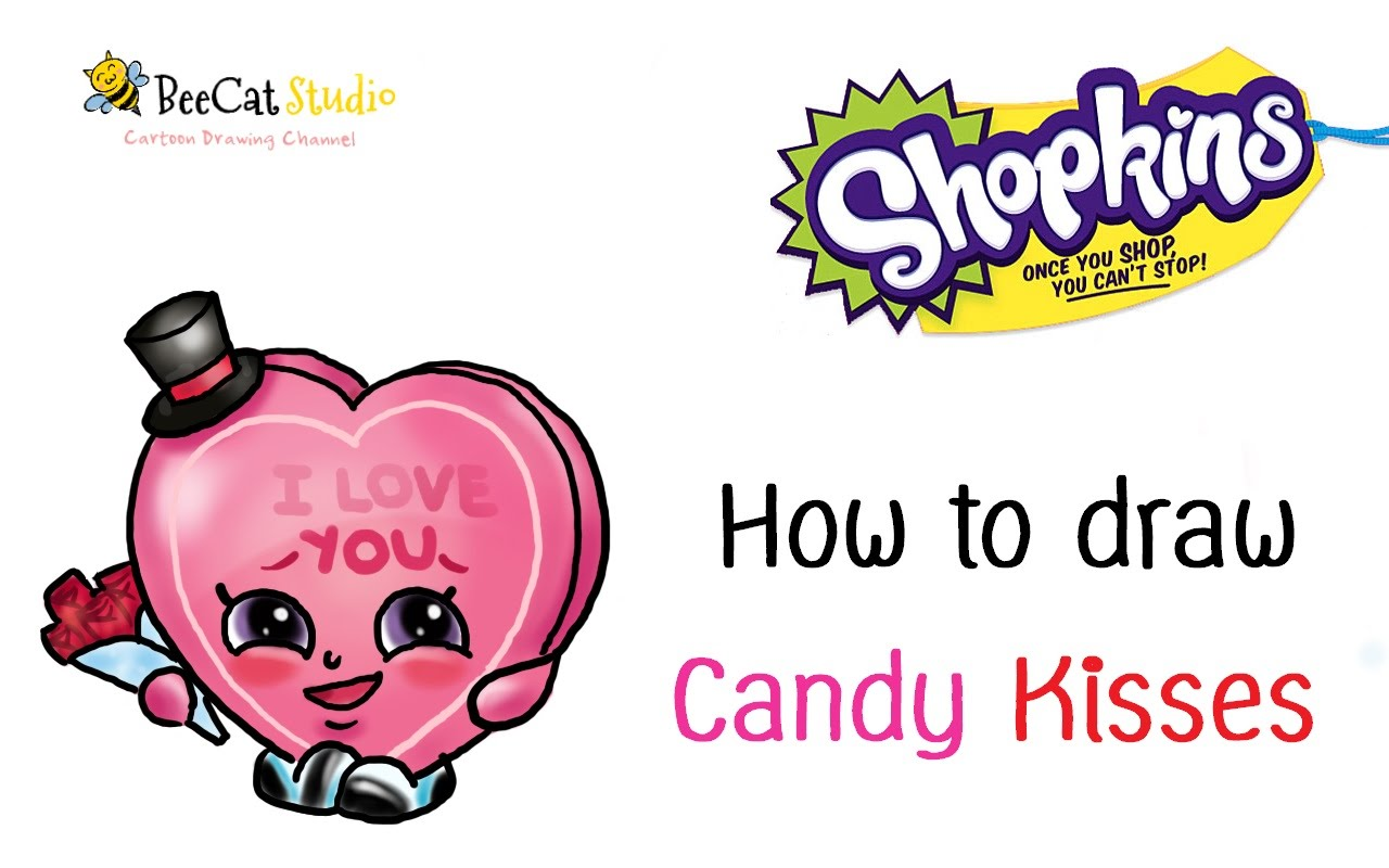 1280x800 How To Draw Shopkins Season 1 Candy Kisses Very Easy