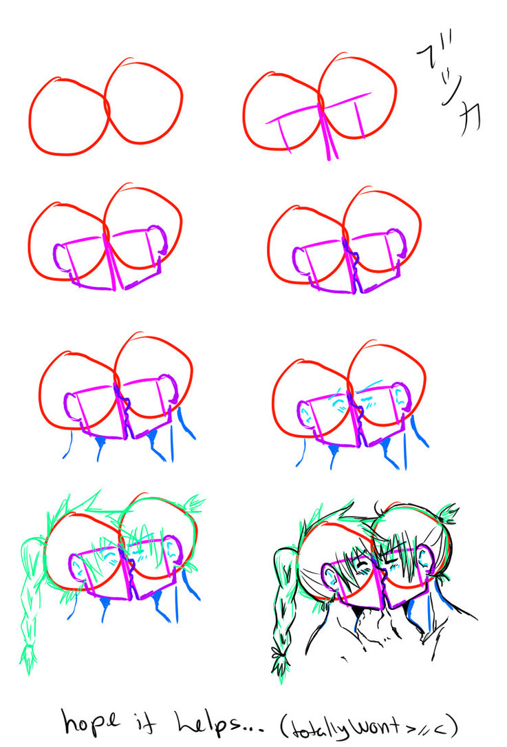 737x1085 How To Draw Kissing By Saroona97