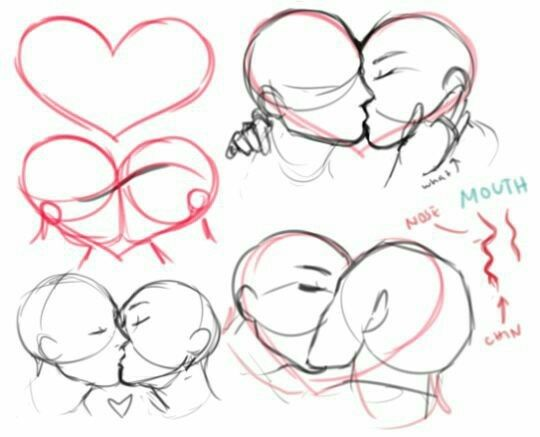 540x437 Couple, Kissing How To Draw Mangaanime How To Draw Mangaanime