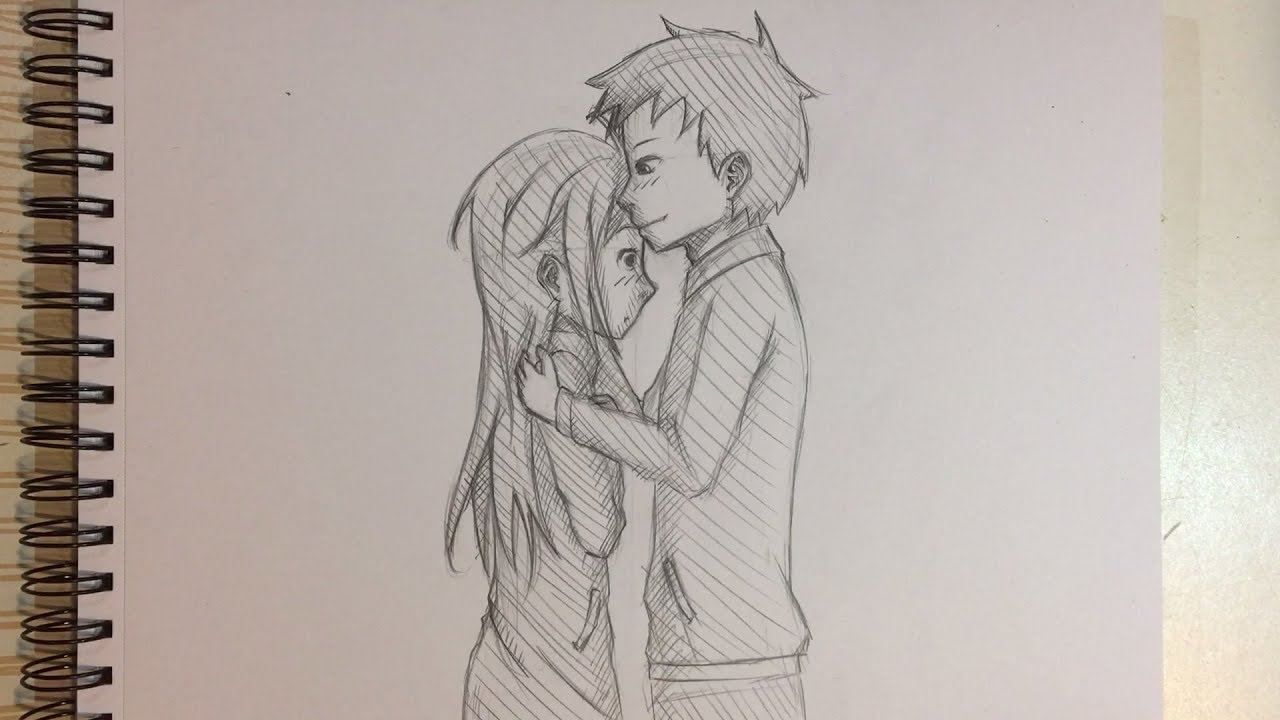1280x720 How To Draw Anime Couple Kissing [No Timelapse]