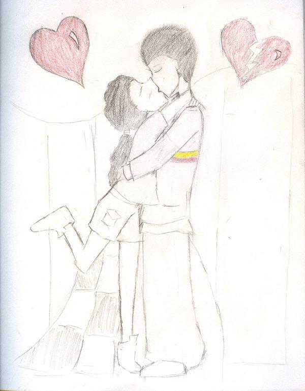 600x769 Kissing Couple By Larkinskye