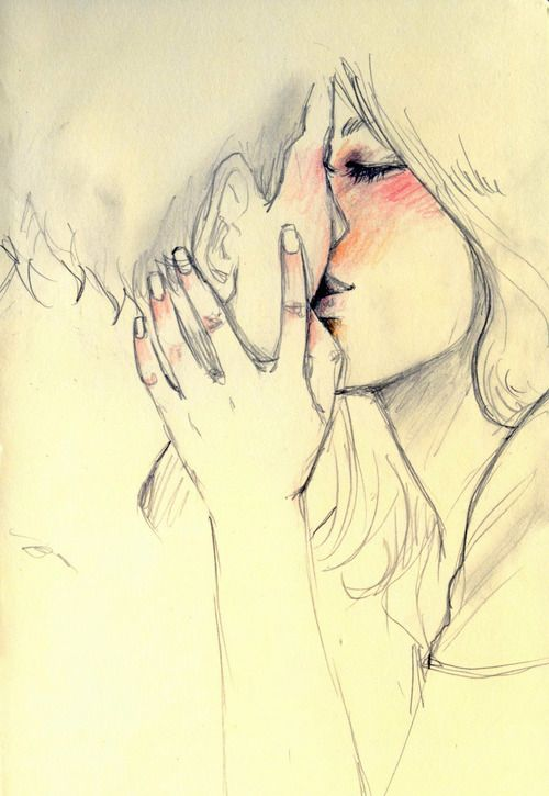 500x725 Pictures Couple Kiss Drawing,