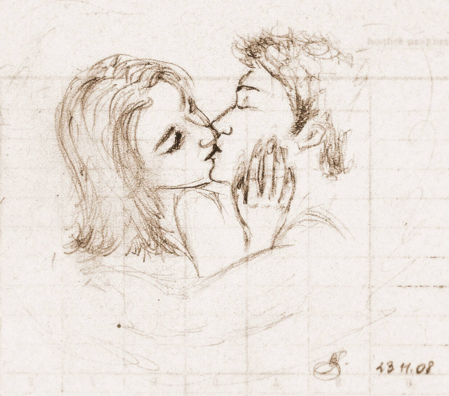 900x795 Drawings Of Couples Kissing Couple By ~beata91