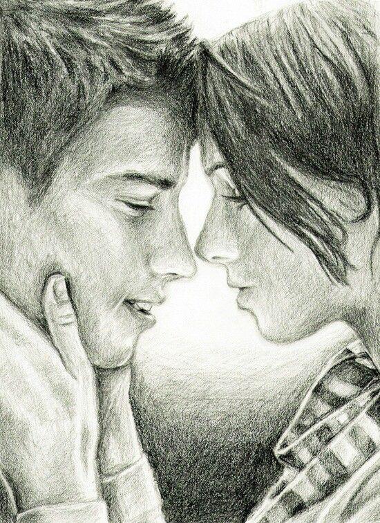 550x756 Drawn Kissing Art Love