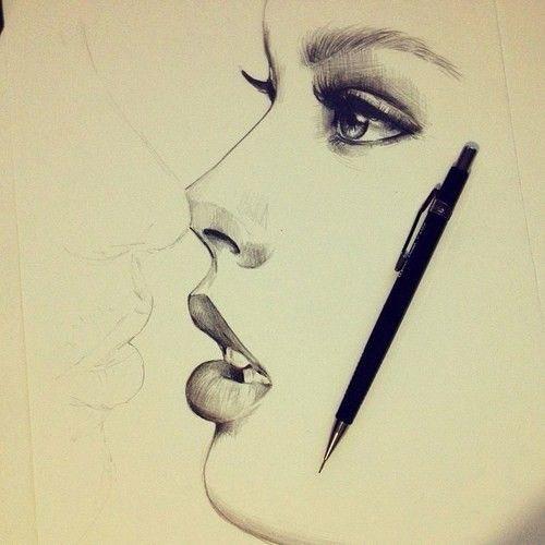 500x500 Kissing Drawing Drawings Lt3 Kissing Drawing And Draw