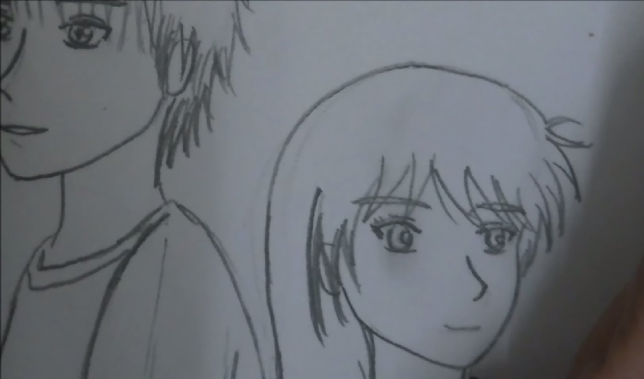 1296x762 Romantic Anime Couples Kissing Drawing