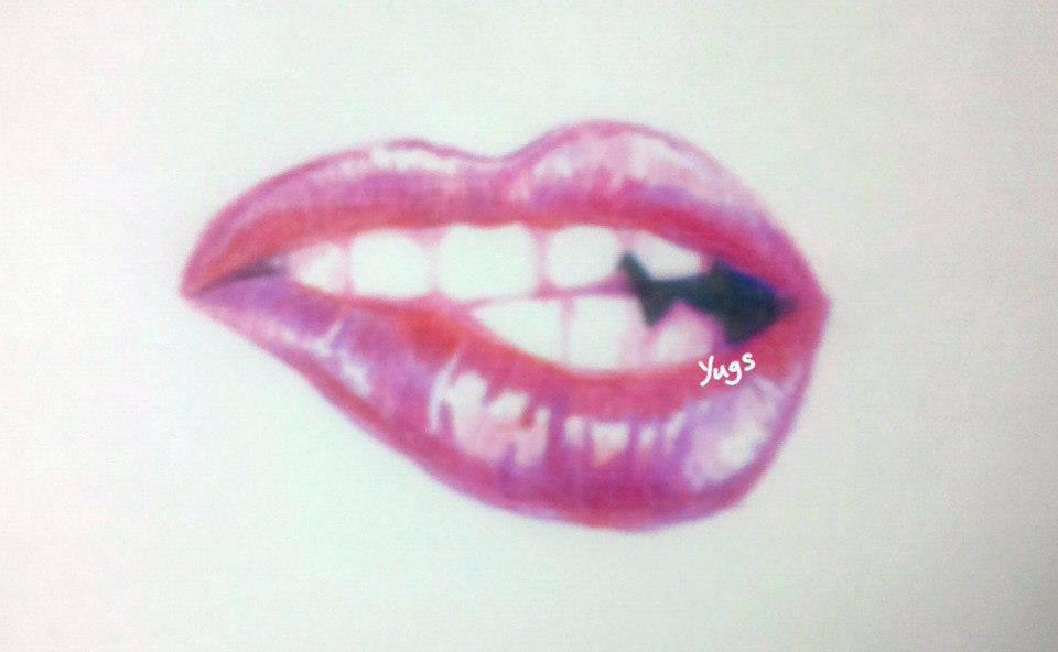 960x592 Images Lips Kissing Sketch