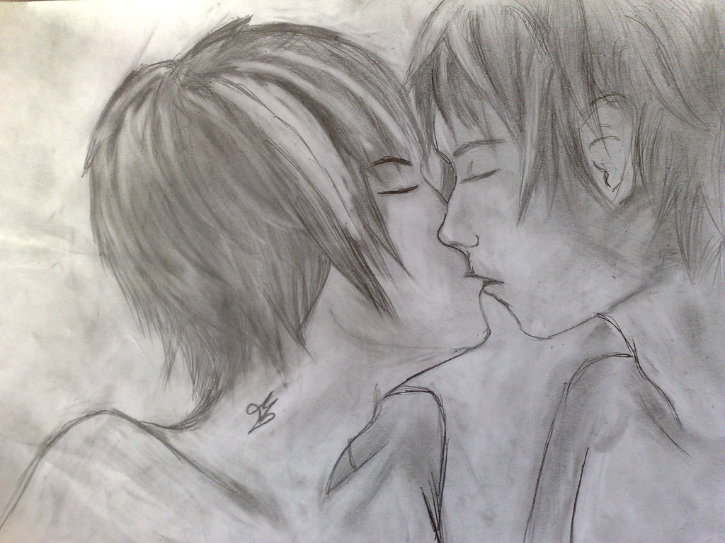 1024x768 Pencil Drawing Of Kissing Pencil Drawing Picture Of Kissing Couple