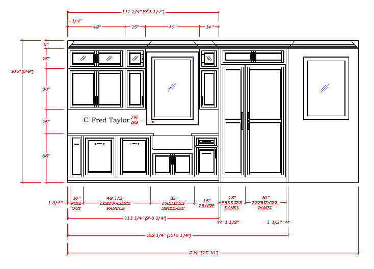 Beau 734x528 AutoCad Shop Drawing Of Kitchen Area WORKING DRAWINGS