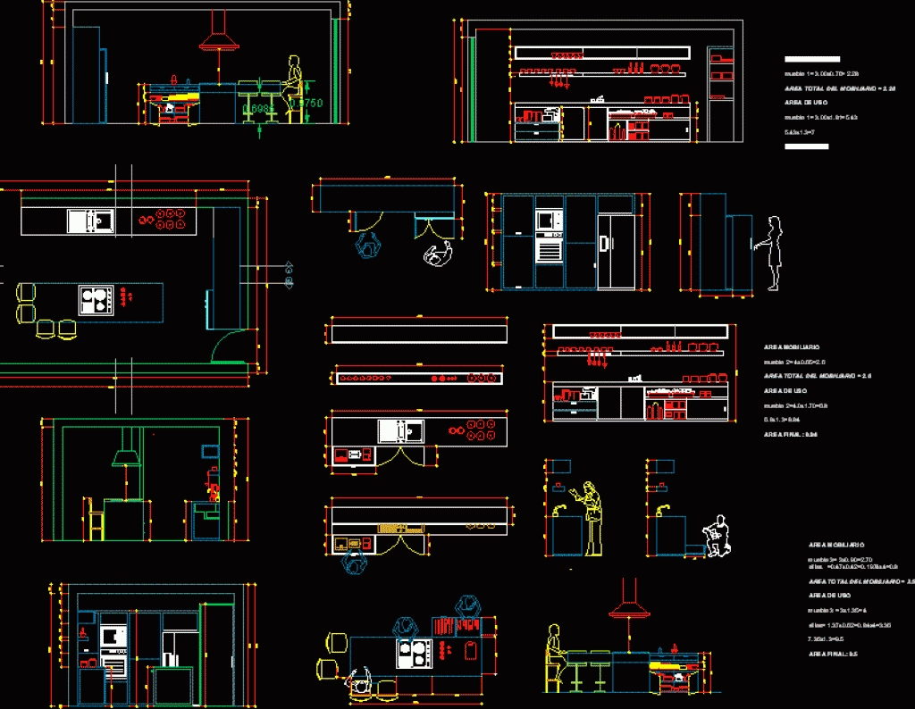 Kitchen Autocad Drawing at GetDrawings.com | Free for personal use ...
