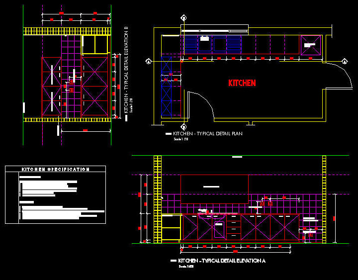 Kitchen Autocad Drawing at GetDrawings com | Free for