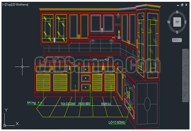 640x440 Kitchen Cupboard Plans Autocad Drawing Of 3d