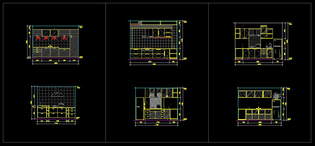 Kitchen Autocad Drawing At GetDrawings Free For Personal Use Delectable Autocad Kitchen Design