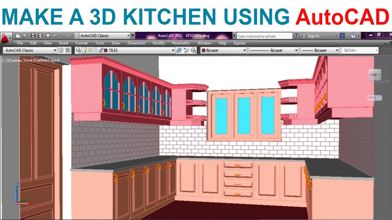 1280x720 Modeling A Kitchen Using Autocad