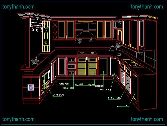 Kitchen autocad drawing at free for for Cocina restaurante autocad